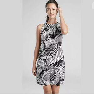 Athleta Santorini High Neck Dress Zumba Print
